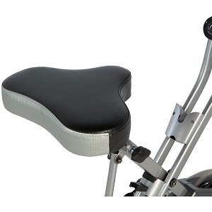Exerpeutic Folding Magnetic Upright Bike with Pulse Seat